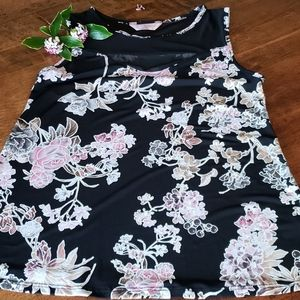 Floral Print Sleeveless Top Size S